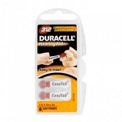 Duracell Activair 312 İşitme Cihazı Pilleri 6 lı 1.4V