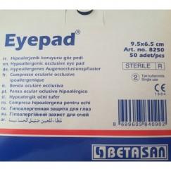 Betasan Eyepad Hipoallerjenik Yapışkanlı Oval Göz Pedi 6,5X9,5 CM 50'lik